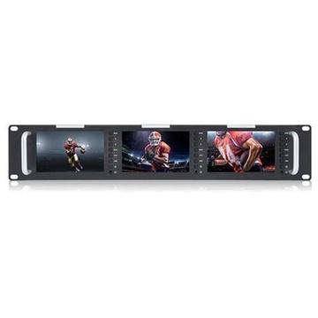 "Feelworld 5'' 3- 5"" Screens 2U Rack Mount Display Monitors"