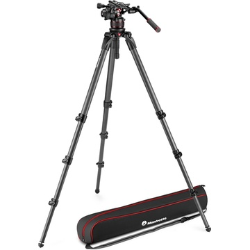 Manfrotto Nitrotech 612 Fluid Video Head and 536 Carbon Fiber Single Leg Tripod