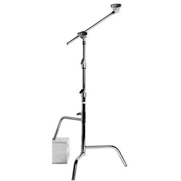 Matthews Hollywood Century C Stand with Arm & Grip Head 1.6m (Chrome)