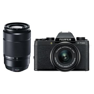 Fujifilm X-T100 Mirrorless Digital Camera with 15-45mm & 50-230mm Twin Lens Kit (Black)