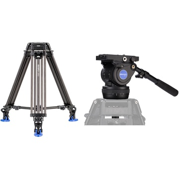 Benro BV10H Video Head with Carbon Fiber Legs Kit
