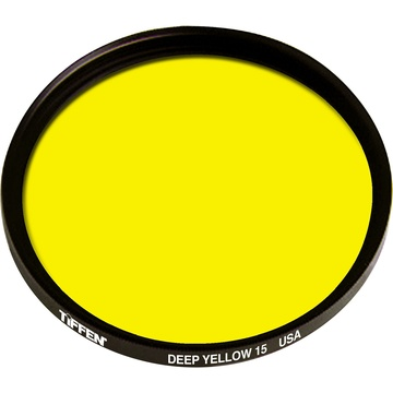 Tiffen 43mm Deep Yellow 15 Glass Filter for Black & White Film