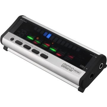 Korg PB04 Pitchblack Portable Polyphonic Tuner (Silver)