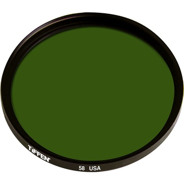 Tiffen 55mm Green 58 Glass Filter for Black & White Film