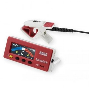 Korg Slimpitch Chromatic Tuner with Contact Mic (Red)