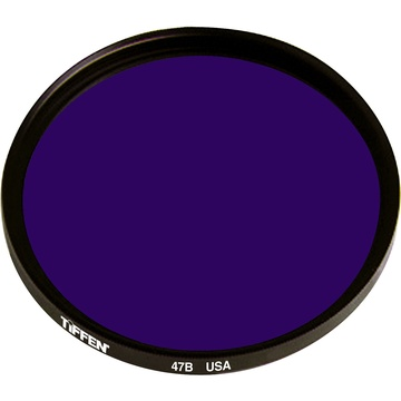 Tiffen 58mm Deep Blue 47B Color Balancing Filter