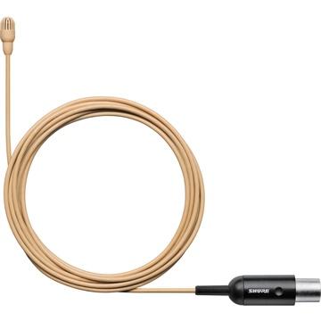 Shure TwinPlex TL47 Omnidirectional Lavalier Microphone (TA4F, Tan)