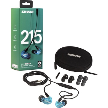 Shure SE215SPE Special Edition Sound-Isolating Earphones with 3.5mm Remote/Mic Cable (Blue)