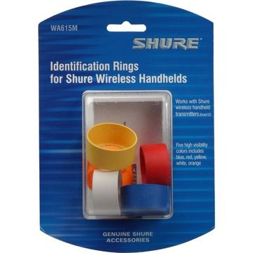 Shure Multi-Coloured Handheld Transmitter ID Rings for Shure T and UT Series Handhelds