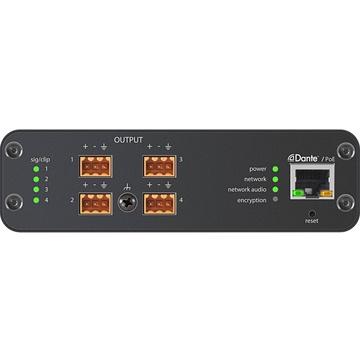Shure Microflex Advance 4-Channel Dante Mic/Line Audio Network Interface Unit (Block Outputs)
