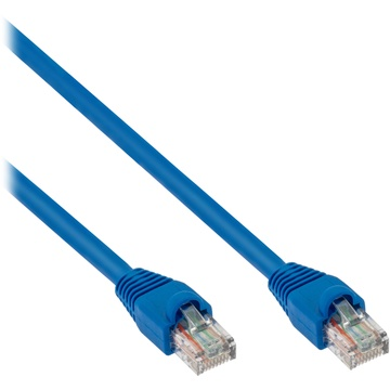 Pearstone Cat 5e Snagless Patch Cable (100', Blue)