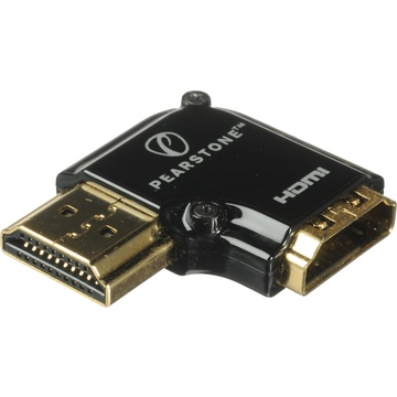 Pearstone HDMI 90-Degree Adapter - Vertical Flat Left
