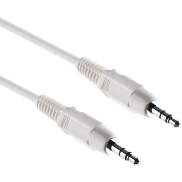 Pearstone Stereo Mini Male to Stereo Mini Male Cable (White) - 15'
