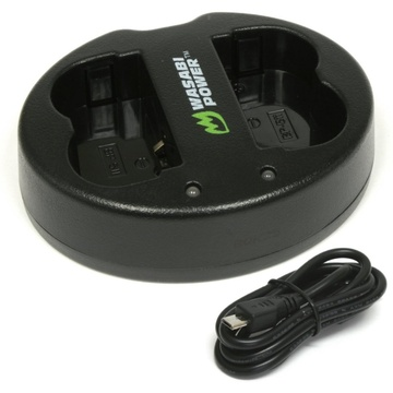 Wasabi Power Dual USB Battery Charger For Canon BP-511, BP-511A, BP-512, BP-514