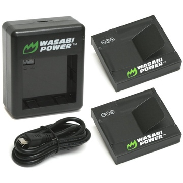 Wasabi Power Battery (2-pack) And Dual Charger For Yi Action Camera (international Edition)
