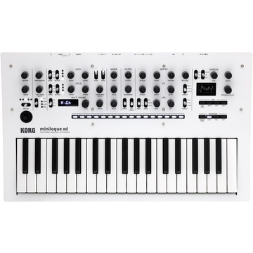 Korg Minilogue XD Polyphonic Analog Synthesiser with Multi-Engine (Pearl White)