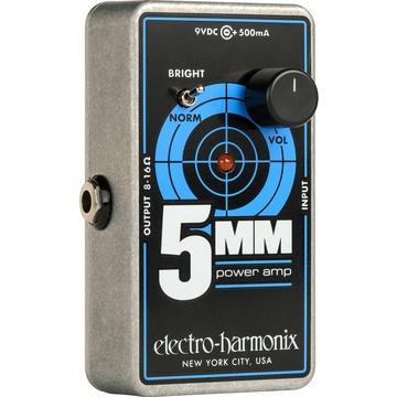 Electro-Harmonix 5MM Guitar Power Amplifier, 2.5 Watts with 9 VDC / 500mA PSU