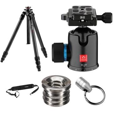 Oben CT-2491 Carbon Fiber Tripod and BC-139 Ball Head Kit