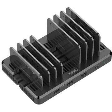 UNITEK 120W 8-Port USB Smart Transformable Charging Station