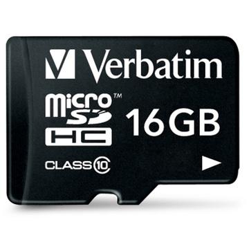 Verbatim Premium microSDHC Class 10 UHS-I Card 16GB with Adapter