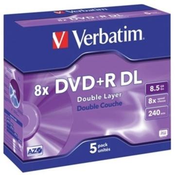 Verbatim DVD+R DL 8.5GB 10x 5 Pack with Jewel Cases