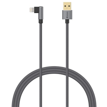 Verbatim Sync & Charge L-Shaped Lightning Cable 120cm Grey