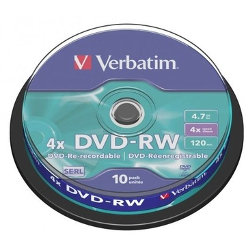 Verbatim DVD-RW 4.7GB 4x 10 Pack on Spindle