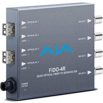 AJA 4-Channel Mult-Mode LC Fiber to 3G-SDI Receiver