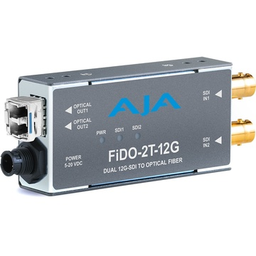 AJA 2-Channel 12G-SDI to Single-Mode LC Fiber Transmitter