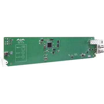 AJA openGear 1-Channel Multi-Mode LC Fiber to 3G-SDI Receiver with DashBoard Support