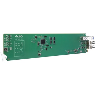 AJA openGear 2-Channel Single Mode LC Fiber to 3G-SDI Receiver with Dashboard Support