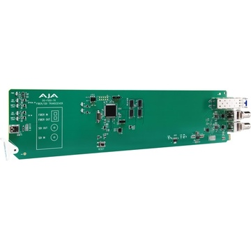 AJA openGear 1-Channel 3G-SDI/LC Single Mode LC Fiber Transceiver with DashBoard Support