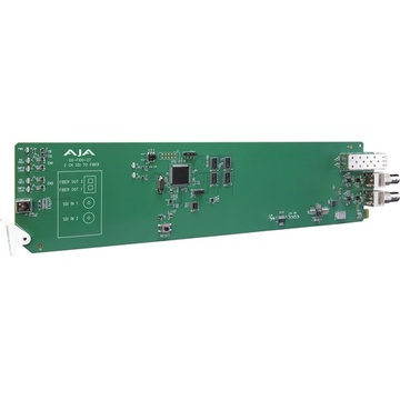 AJA openGear 2-Channel 3G-SDI to Single Mode LC Fiber Transmitter for CWDM with DashBoard Support