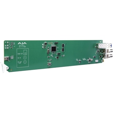 AJA openGear 1-Channel 3G-SDI to Single Mode LC Fiber Transmitter with DashBoard Support