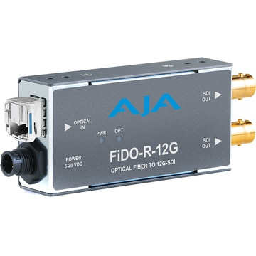AJA 1-Channel Single-Mode LC Fiber to 12G-SDI Receiver