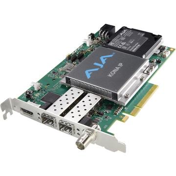 AJA KONA IP Video/Audio I/O Card, 8-Lane PCIE 2.0, 2x10 Gige SFP Cages, HDMI Monitoring Output
