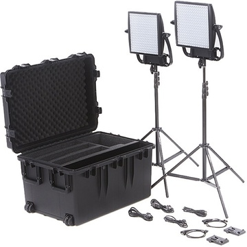Litepanels Astra 6X Traveler Bi-Colour Duo 2-Light Kit with V-Mount Battery Plates