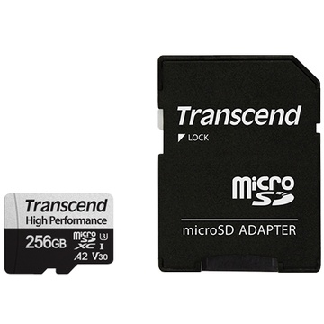 Transcend 256GB 330S UHS-I microSDXC Memory Card with SD Adapter