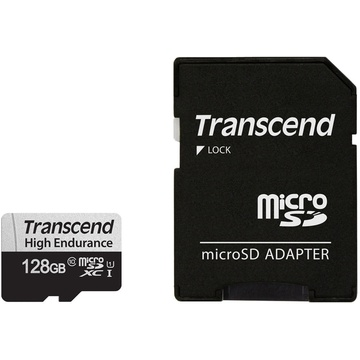 Transcend 128GB High Endurance 350V UHS-I microSDXC Memory Card