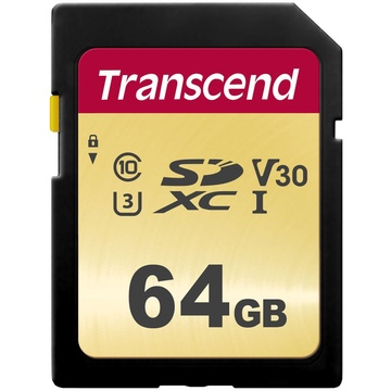 Transcend 64GB 500S UHS-I SDXC Memory Card
