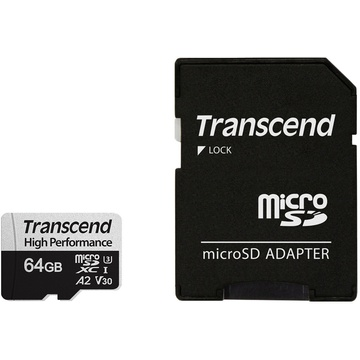 Transcend 64GB 330S UHS-I microSDXC Memory Card with SD Adapter