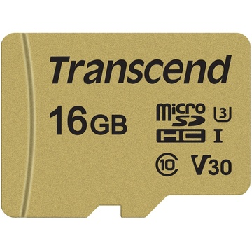 Transcend 16GB 500S UHS-I microSDHC Memory Card