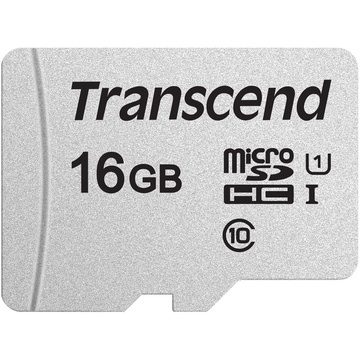 Transcend 16GB 300S UHS-I microSDHC Memory Card with SD Adapter