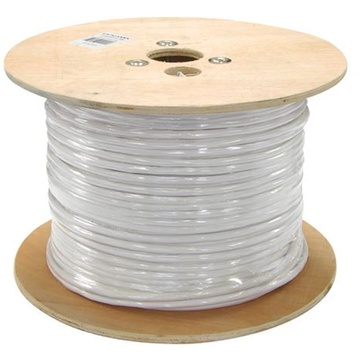 DYNAMIX 305m Cat5E STP STRANDED Shielded Cable Roll 100MHz White PVC Jacket
