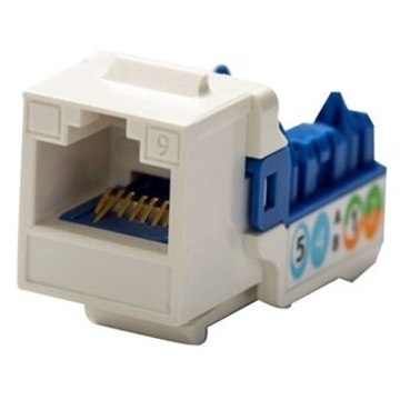 DYNAMIX Cat6 90 Unshielded Keystone Jack 110 IDC White
