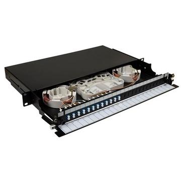 DYNAMIX 19' 1U Fibre Tray 24C LC SM Fully Loaded