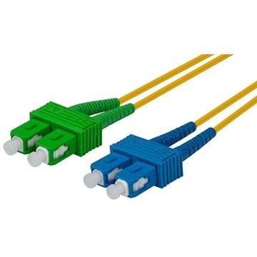 DYNAMIX 1M 9u SCAPC/SC Duplex mode OS2 G657A1 Bend Insensitive Fibre Patch Lead