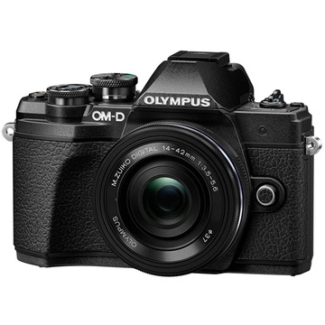 Olympus OM-D E-M10 Mark III Mirrorless Camera with 14-42mm Lens (Black)
