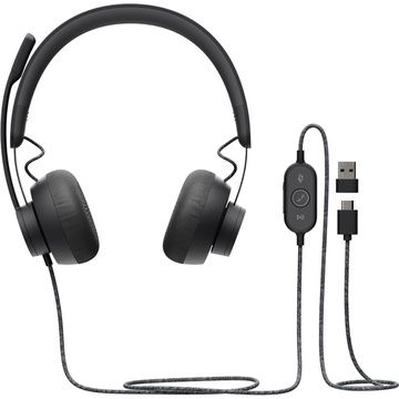 Logitech Zone Wired On-Ear Headset (UC)
