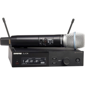 Shure SLXD24/B87A Digital Wireless Handheld Microphone System with Beta 87A Capsule